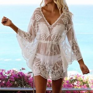Other - ✨JUST IN✨SALE✨NEW CHIC LACE BOHO COVERUP TOP DRESS